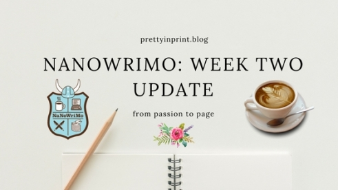 Nanowrimo Week Two Update